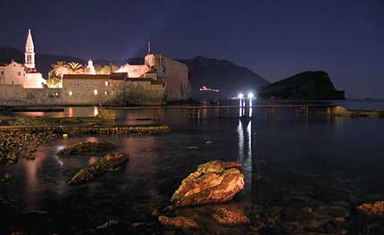Budva Night Old City